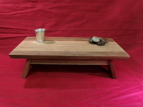 EarthBench Personal Shrine Table Altar   Small Low Table For Meditation U0026  Prayer.
