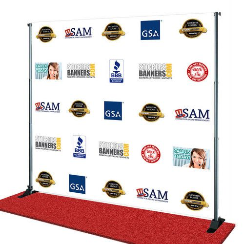 Custom Fabric Step And Repeat Custom Fabric Step And Repeat Banner Same Day Shipping Custom Vinyl Banners Vinyl Banner Printing Vinyl Banners