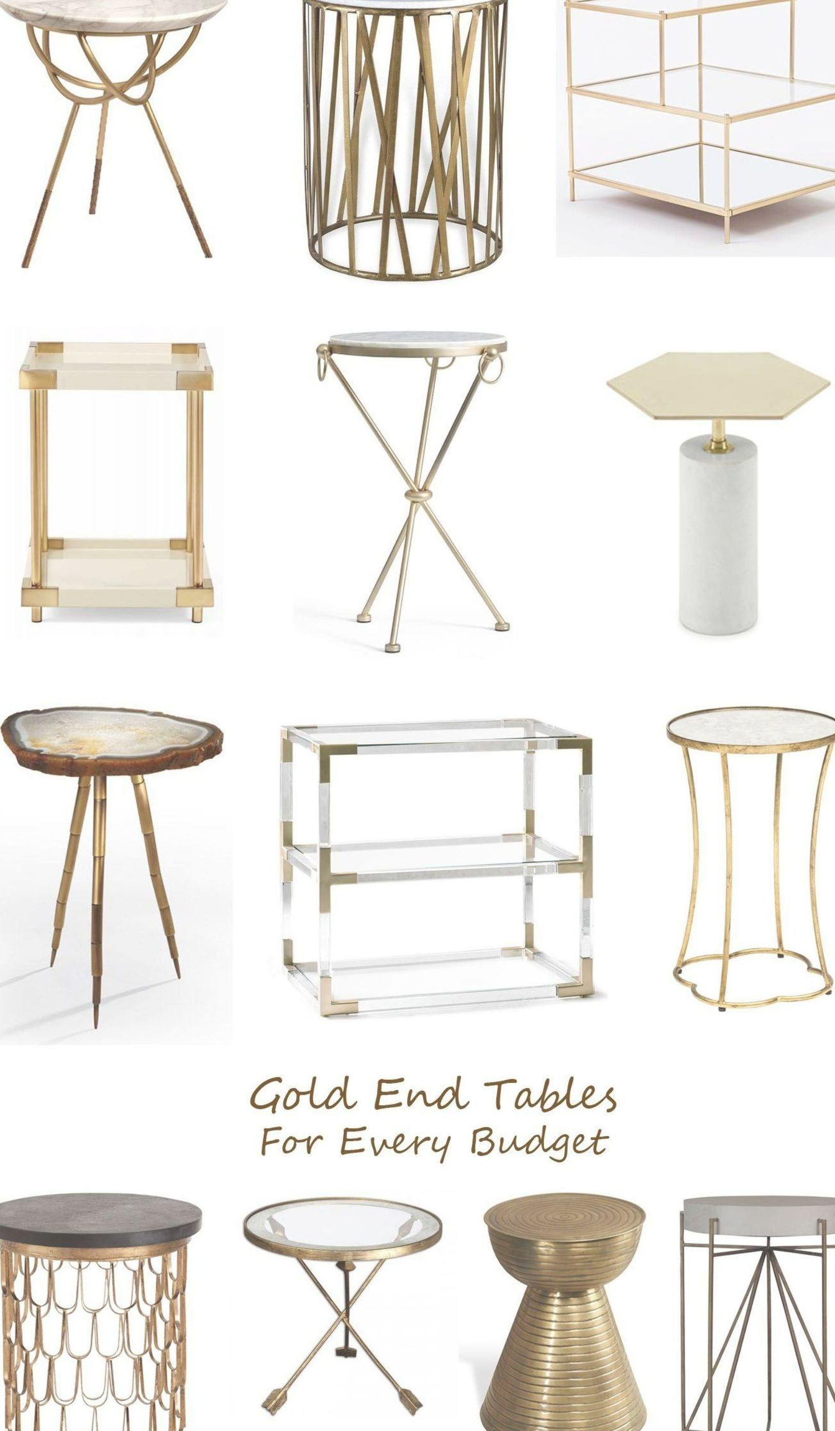 Living Rooms Are Total Decor Goals gold end tables for every budgetgold end tables for every budget