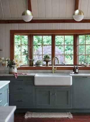 95 Best Farmhouse Kitchen Cabinet Makeover Design Ideas #farmhousekitchencolors