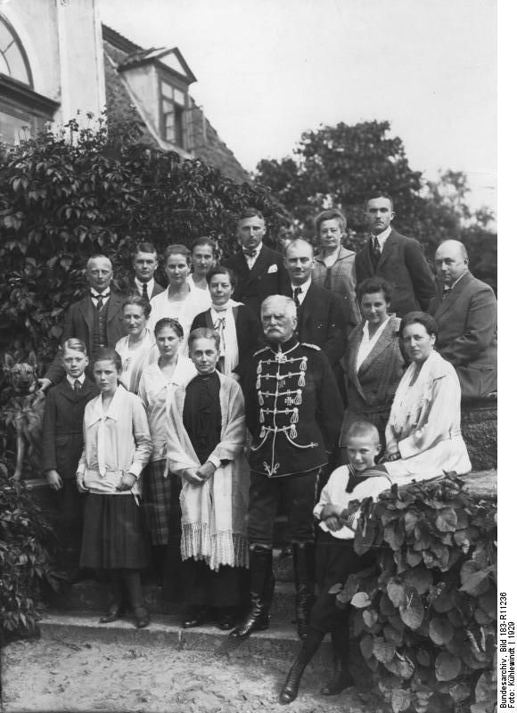 August Von Mackensen S Family At His 80th Birthday Mackensen
