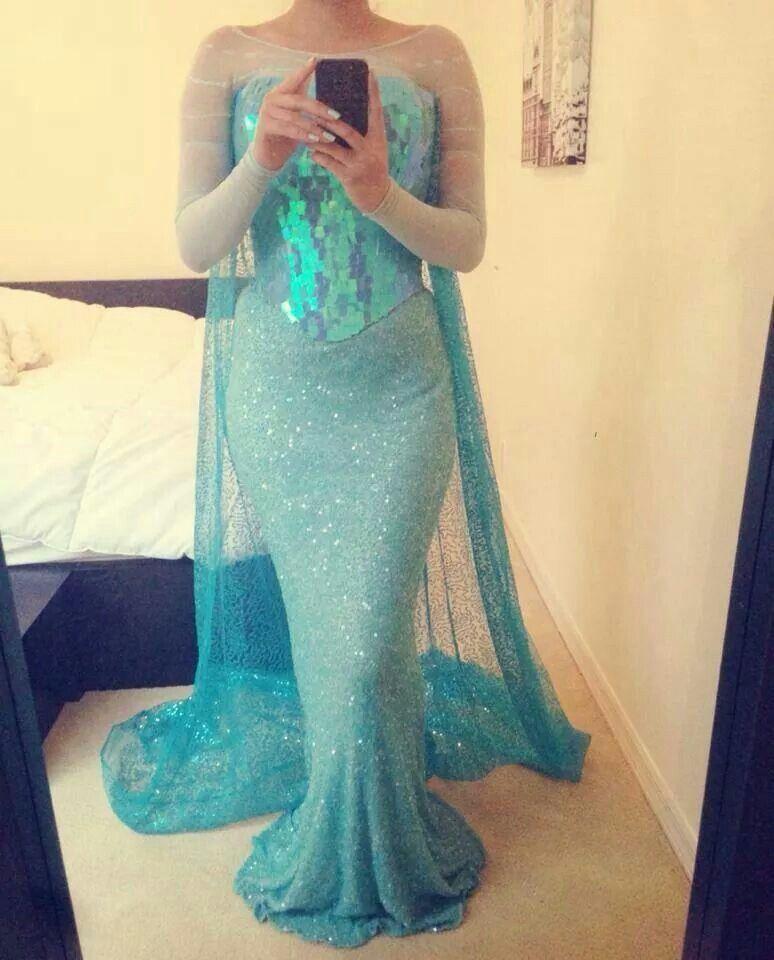 Adult size elsa dress i wish i was fancy pinterest - Robe reine des glaces ...