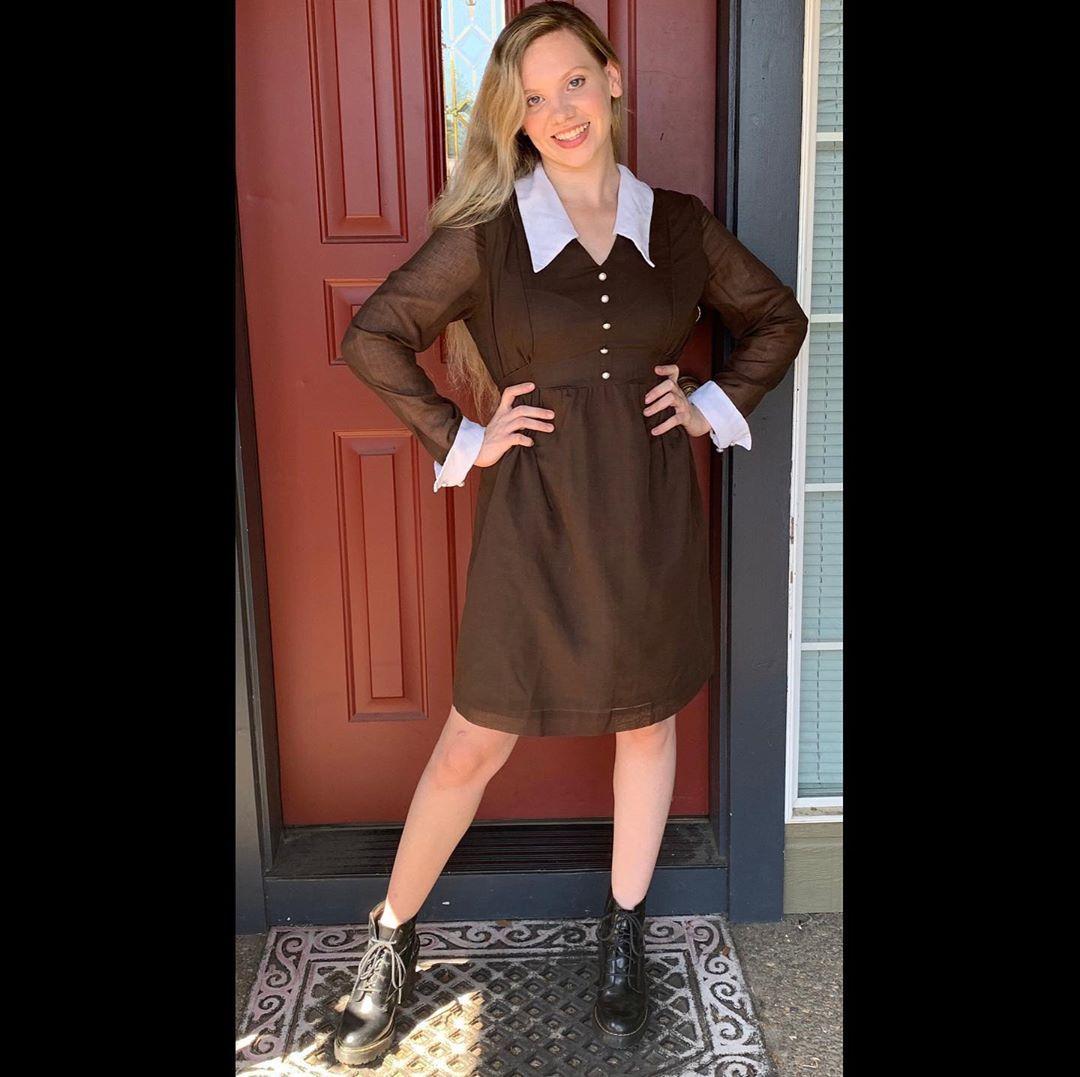 60s Mod Babydoll Brown Twiggy Dress Brown And White With Wide Etsy Twiggy Dress Dresses Twiggy Fashion [ 1077 x 1080 Pixel ]