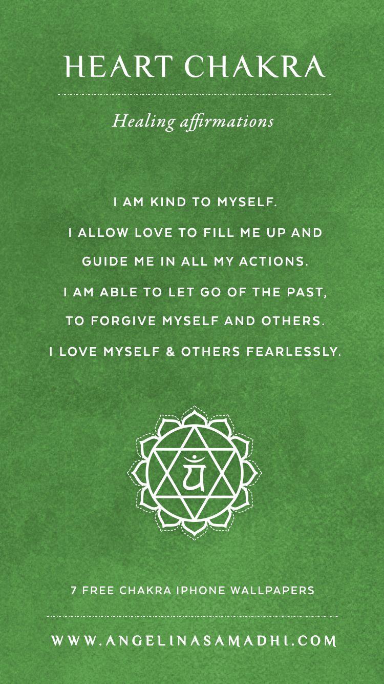 Afirmación para el Cuarto Chakra: Soy amable conmigo mismo Permito ...