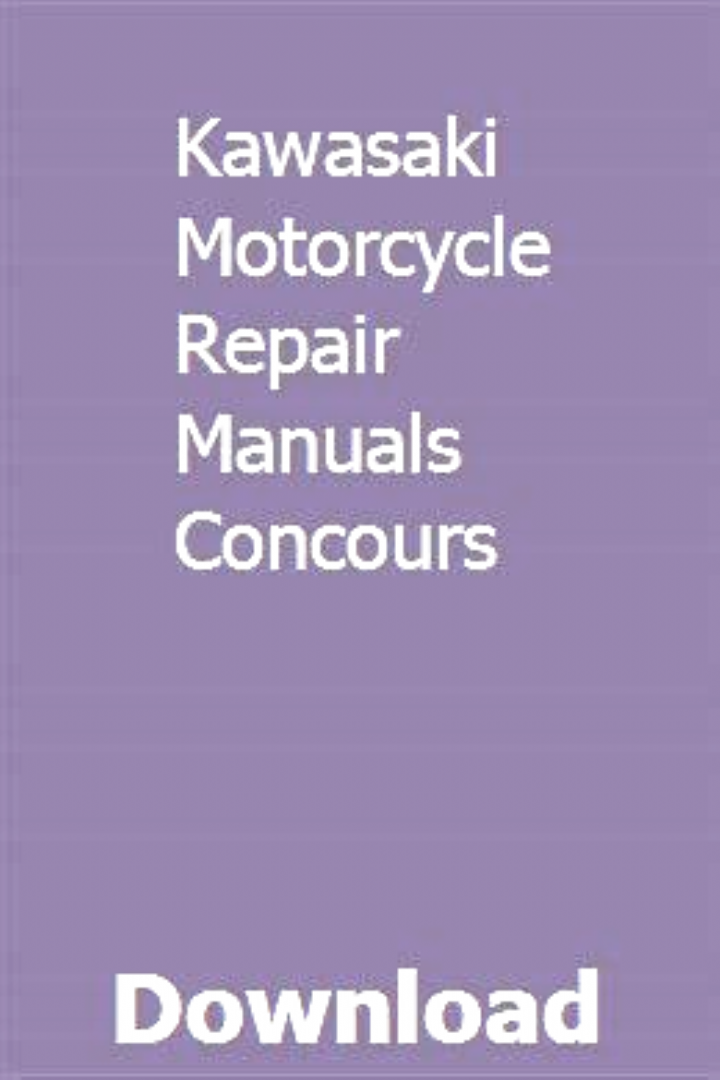 Kawasaki Motorcycle Repair Manuals Concours Pdf Download Online Full Motorcycles In 2020 Motorcycle Repair Kawasaki Motorcycles Repair Manuals