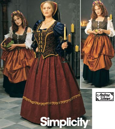 91250c1f385 Plus Size Renaissance Costume Patterns