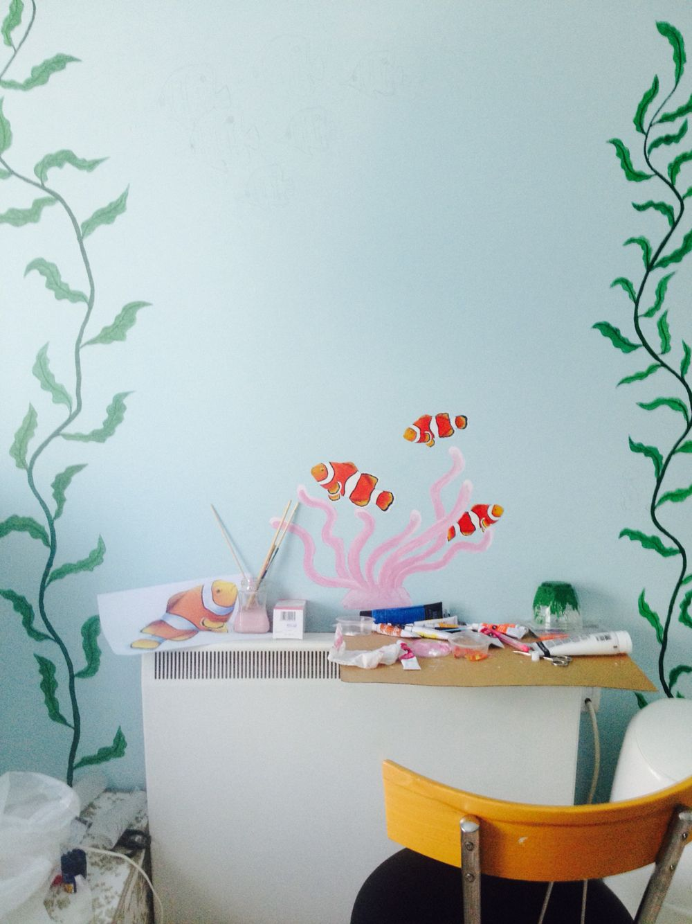 Under the sea themed walls for