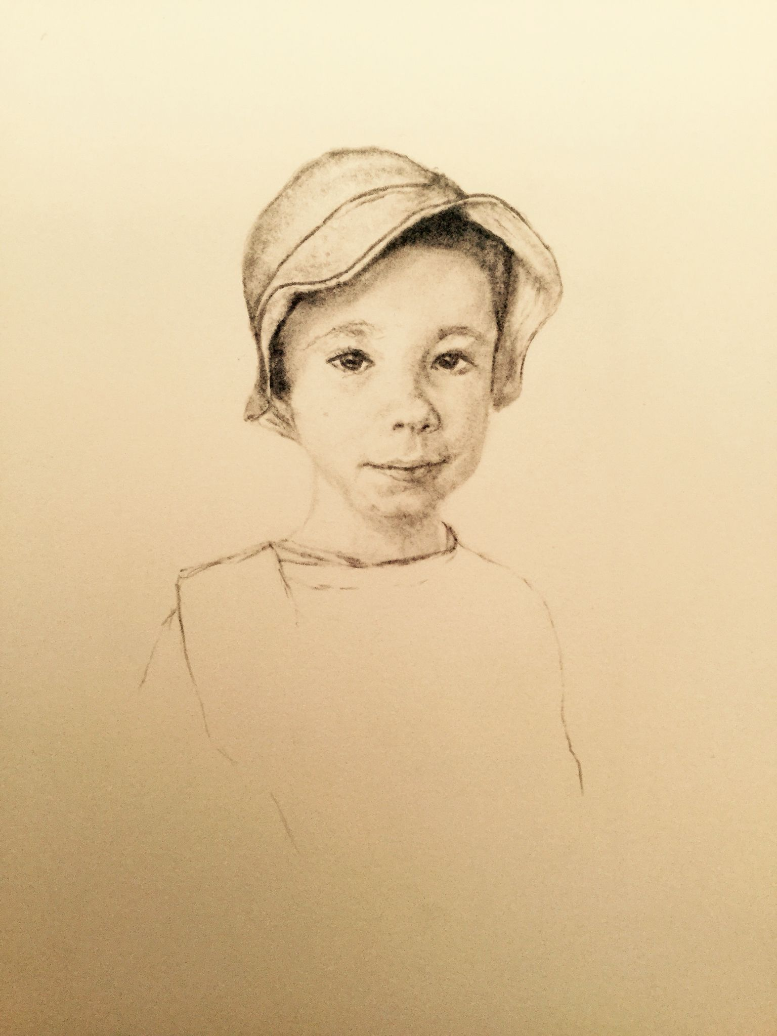 Portrait of a young boy by W.K.PERRIAM