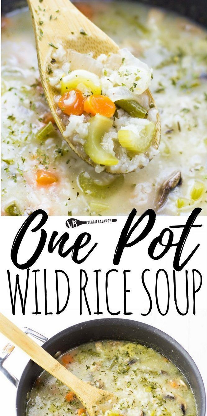 Vegetarian Wild Rice Soup Recipe Made In One Pot For A Quick
