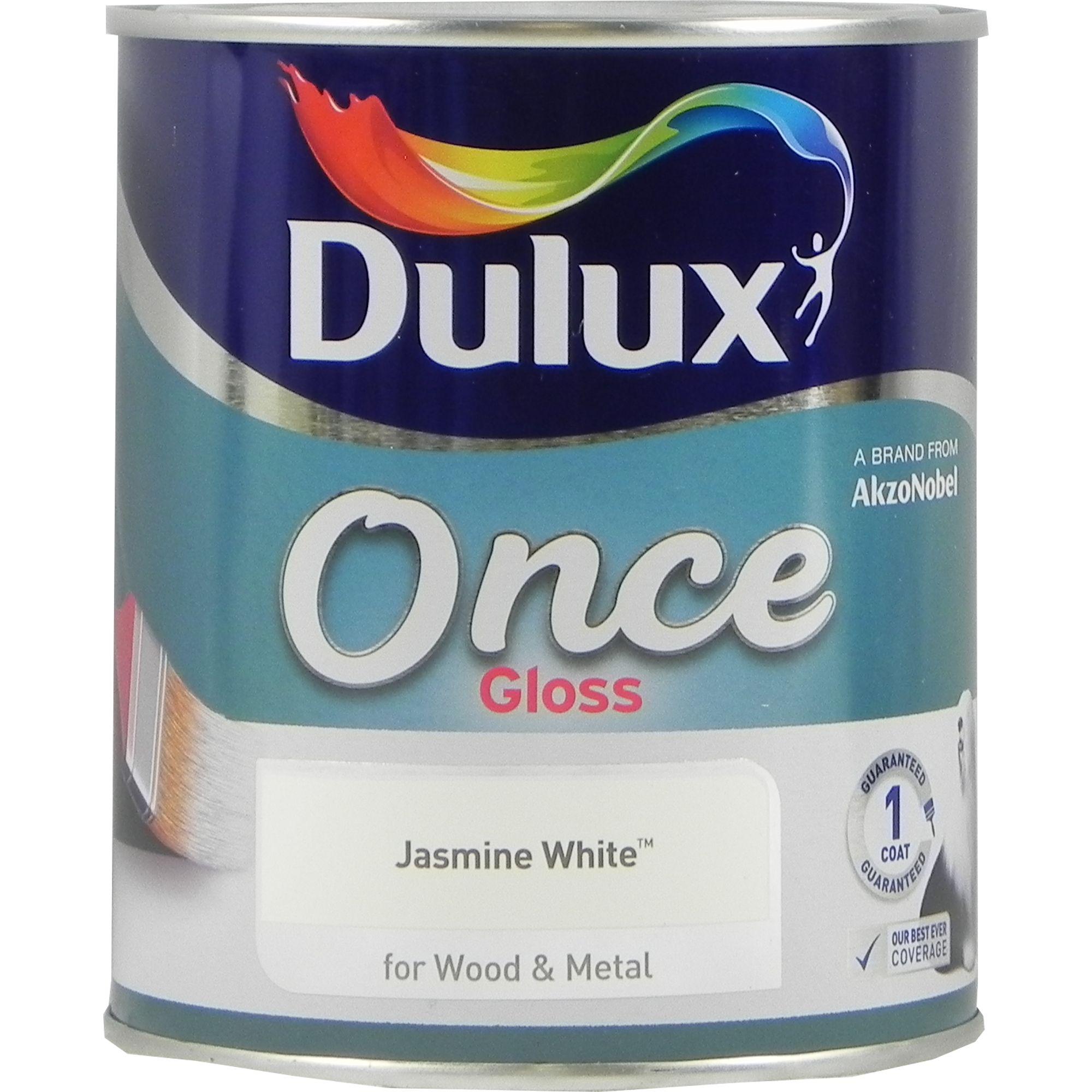 Dulux Once One Coat Gloss Jasmine White 750ml