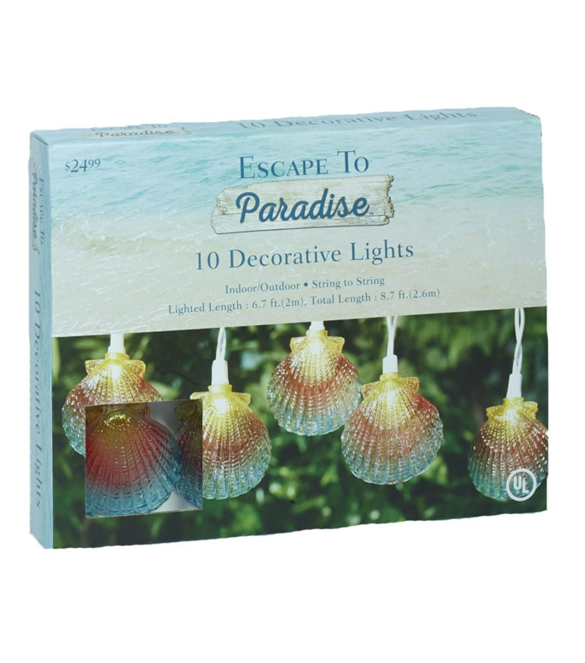 Escape To Paradise 10 Count Light Set-Sea Shells
