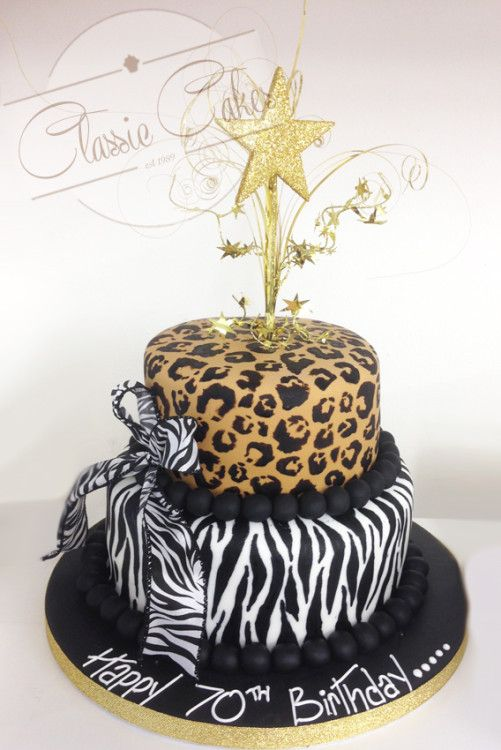 Celebration Cakes With Images Animal Print Cake Cheetah Print