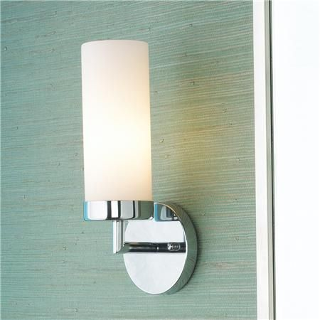 Bathroom Glass Sconces cylinder glass bath sconce modern simplicity and favorite finishes