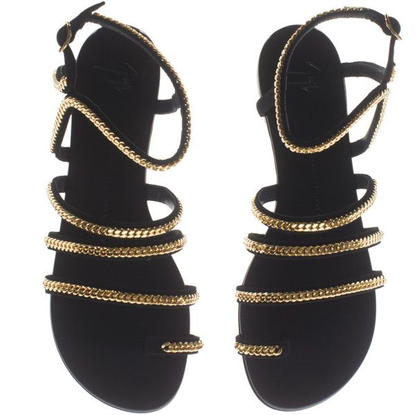 GIUSEPPE ZANOTTI Gold Chain Flat Black