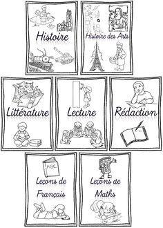 Rentrée Pages De Garde Pour Cahiers Porte Vues Et