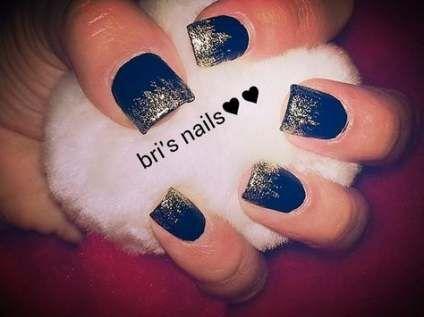49 new ideas nails acrylic dark blue tips nails  short