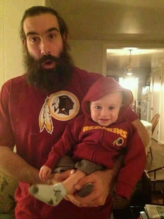 Luke Harper and his son.