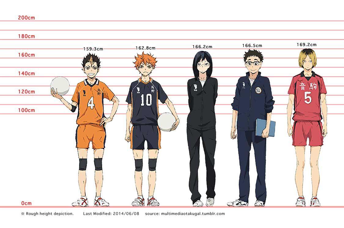 Expanded Haikyuu Height Chart 2014 06 21 View Full Sized Chart Here I Haikyuu Characters Haikyuu Anime Haikyuu Fanart