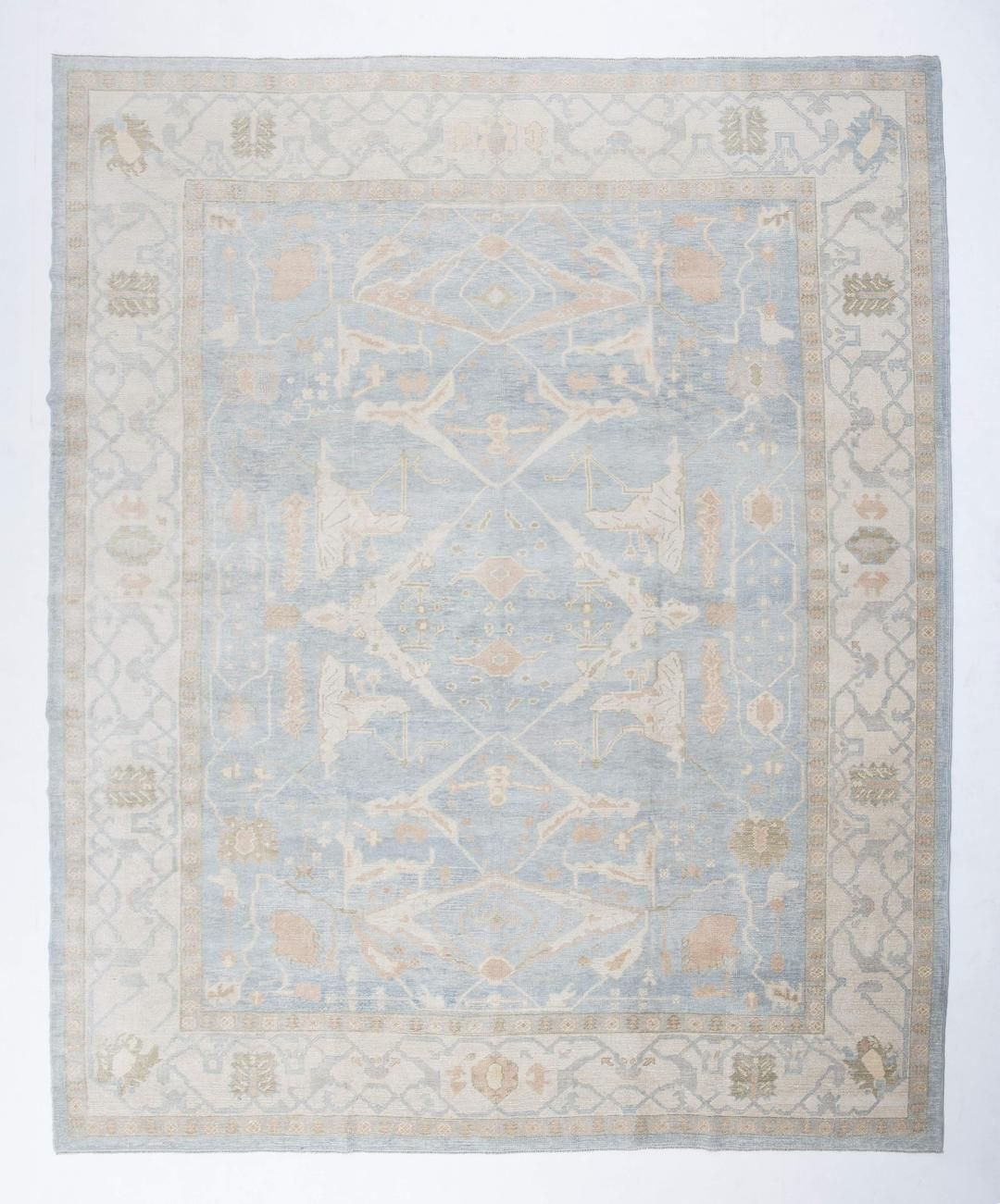 11x14 Slate Gray Modern Oushak Area Rug Turkish Rugs Oriental Rugs