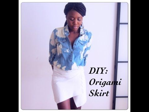 DIY : Asymmetrical/Origami Skirt - YouTube