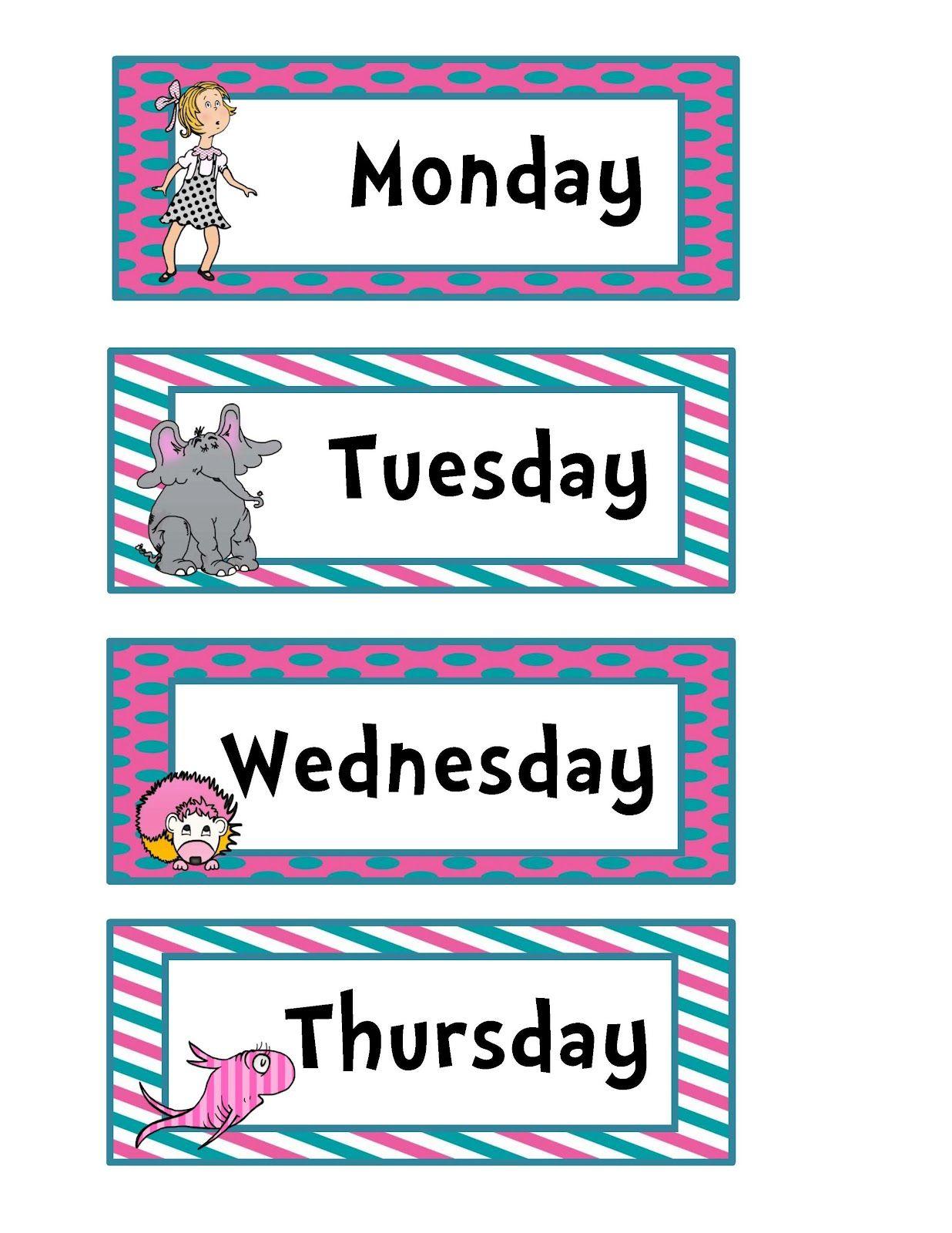 Preschool Printables Seuss
