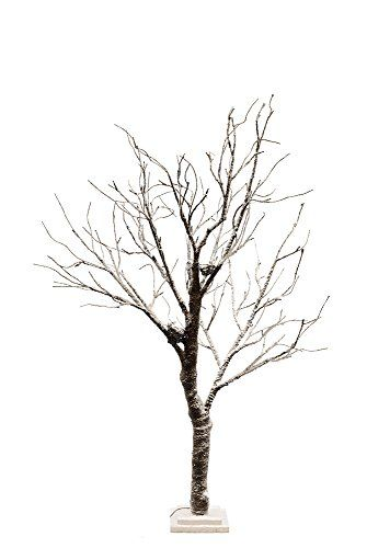All Line 37412-64 Floral Lights LED Tree Dusted with Snow