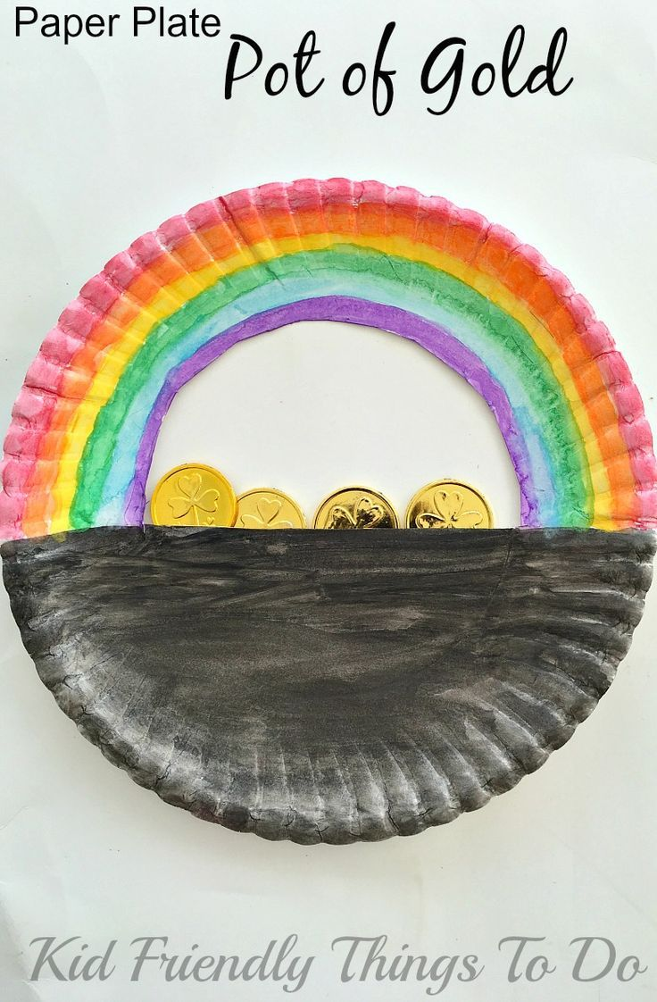 A Simple Paper Plate Pot of Gold St. Patrick's Day Craft ...