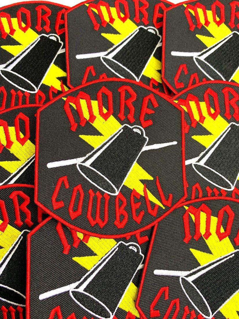 35 more cowbell iron on patch iron on patches patches