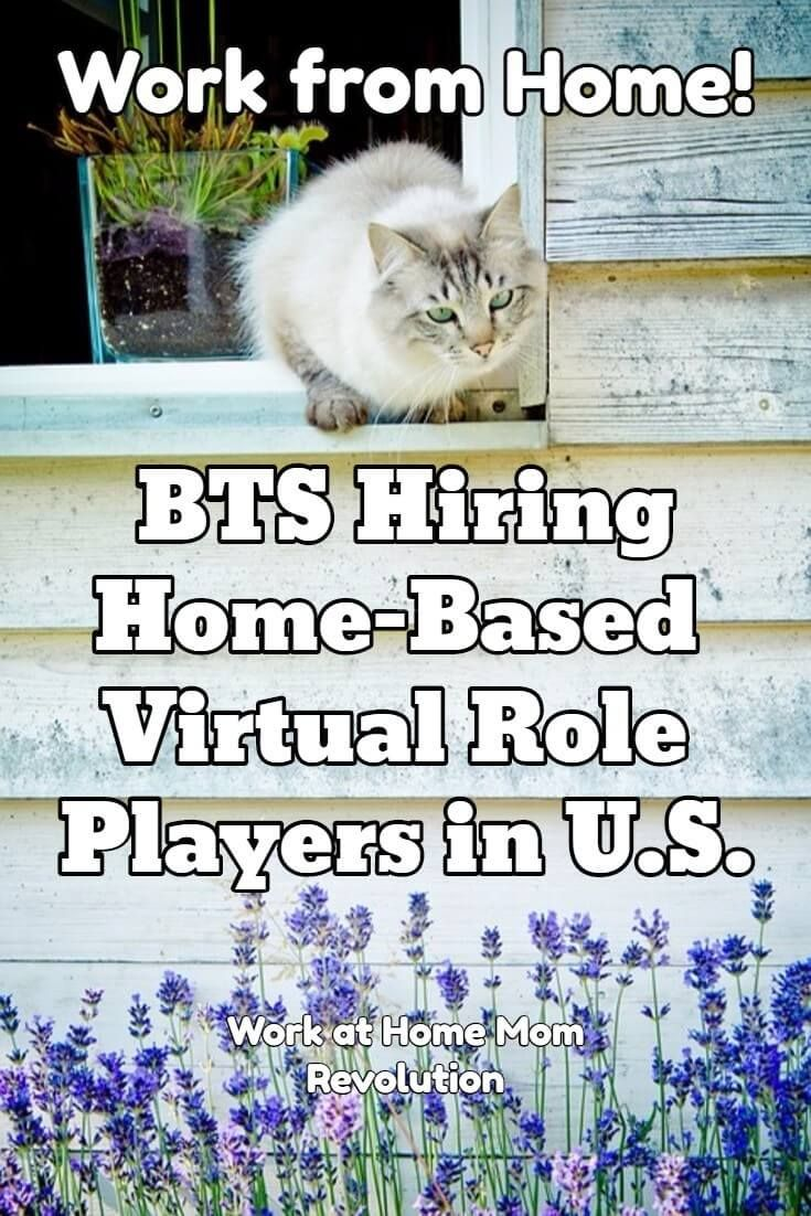 Home Based Virtual Role Player Jobs With Bts Work From Home Jobs Role Player Working From Home