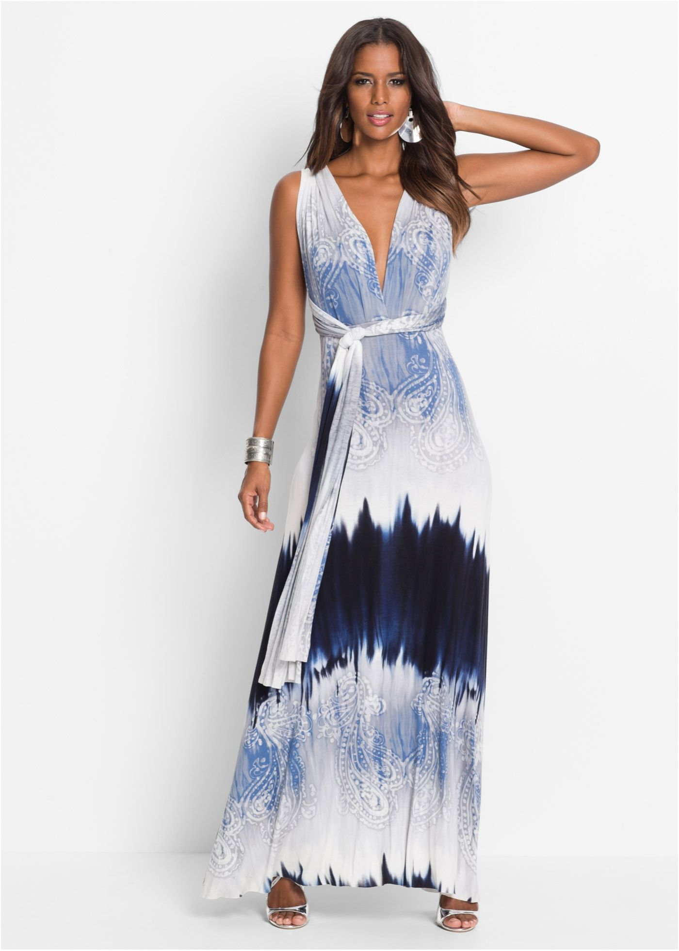 cheap for discount 5fc67 5606d Sommerkleid lang blau - BODYFLIRT boutique jetzt im Online ...