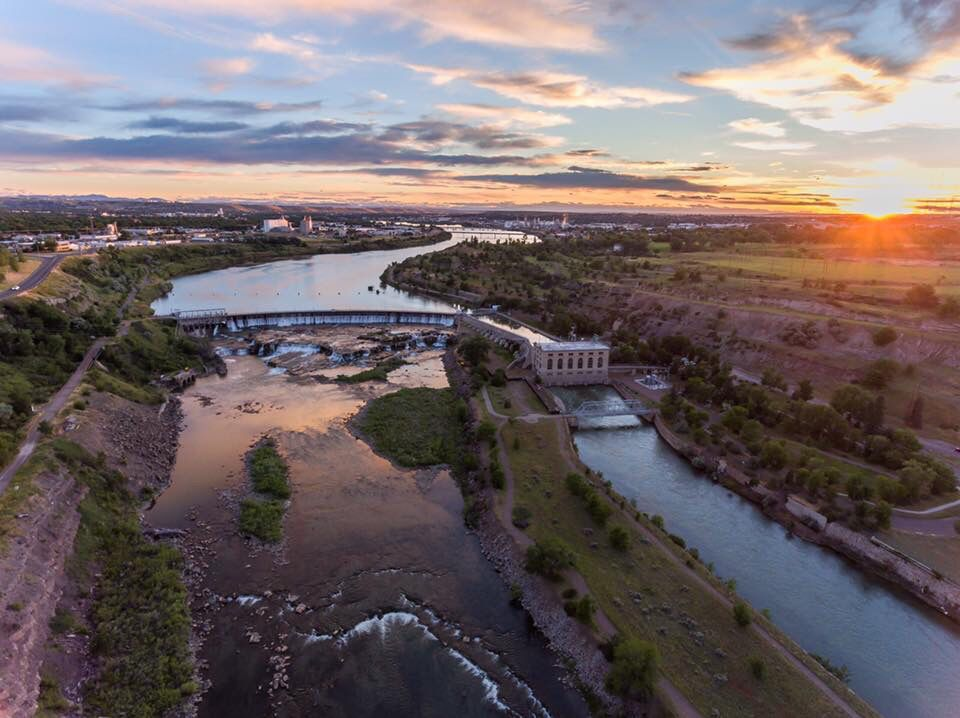 Michael Bourgault: Great Falls of the Missouri, sunset.