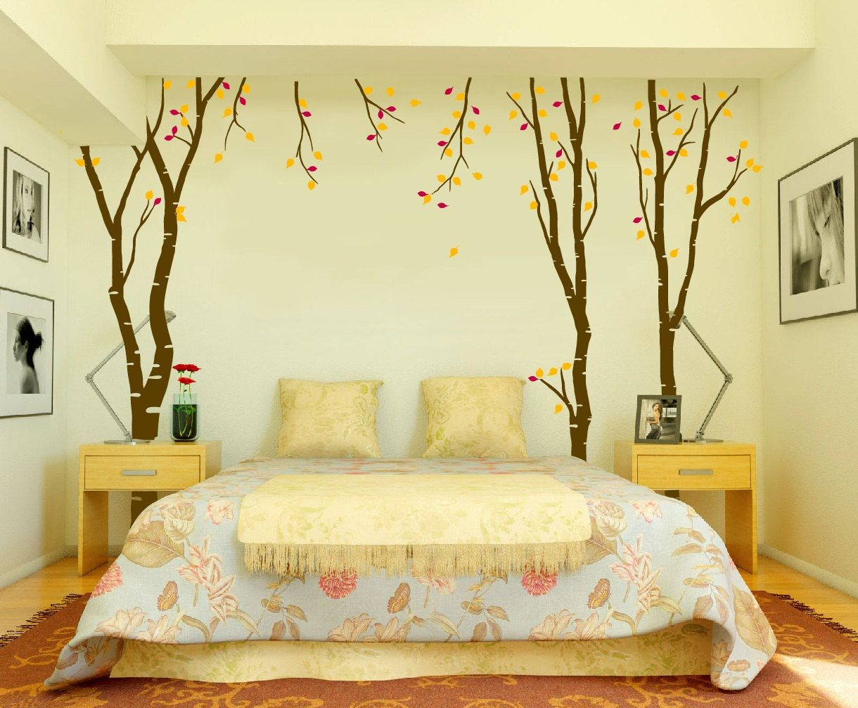 Large Wall Birch Tree Decal Forest Kids Vinyl Sticker Removable ...