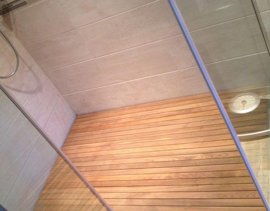 zeer waterdicht teakhouten douche vloeren | badkamer | Pinterest ...