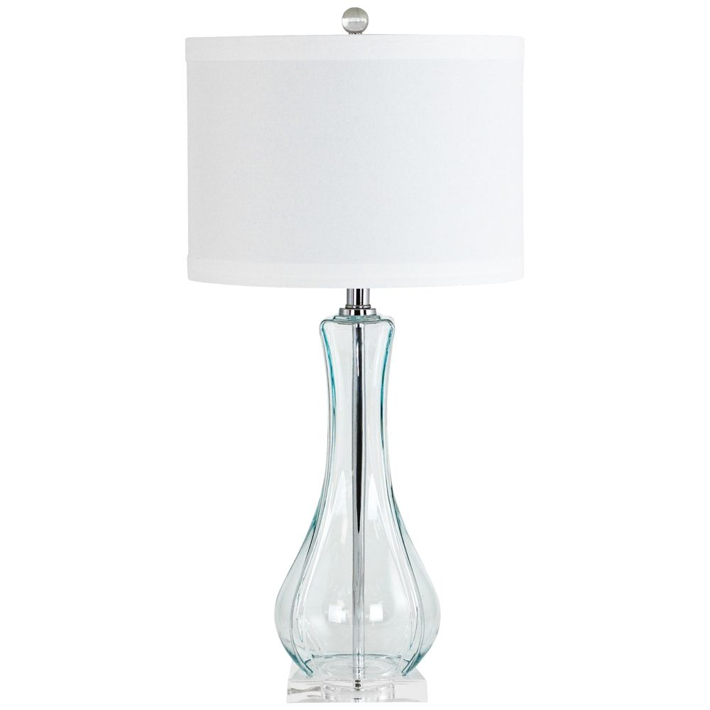 Blue glass table lamps  Lissie Light Blue Glass Vase Table Lamp  Style  M  Products