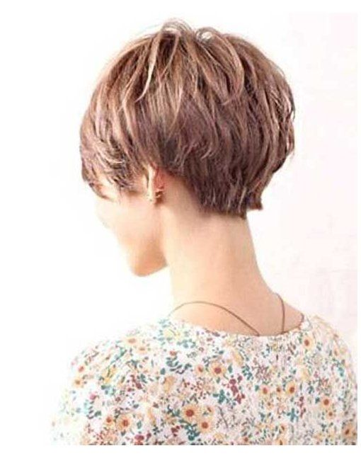 short hair with layers back view