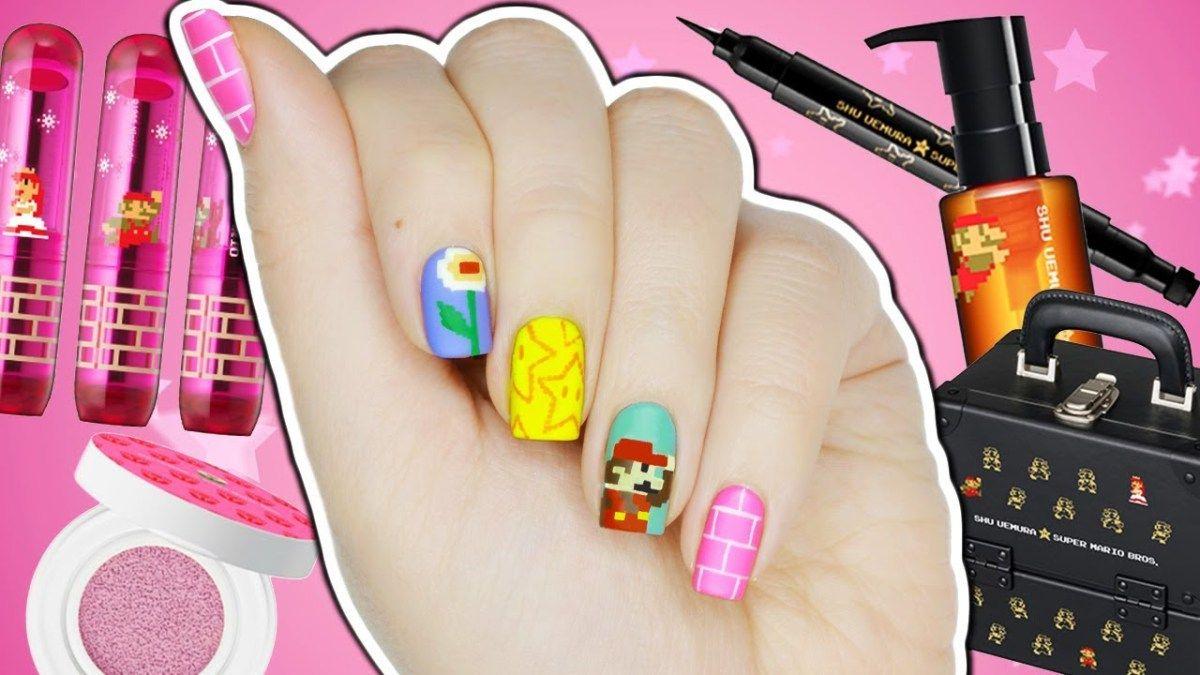 8-Bit Super Mario Nail Art + Makeup Collection! | Makeup collection ...