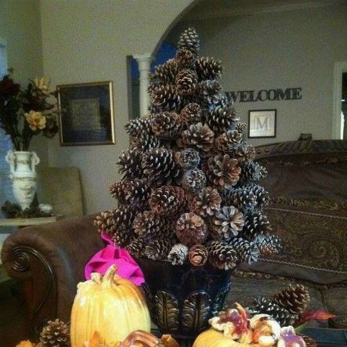 s 13 reasons to rush outside and collect an armful of pine cones, christmas decorations, crafts, repurposing upcycling, seasonal holiday decor, Frosted Cone Tree