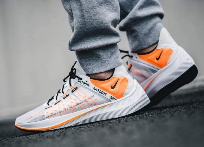 New NIKE EXP X14 Just Do It Sneaker Mens white orange gray