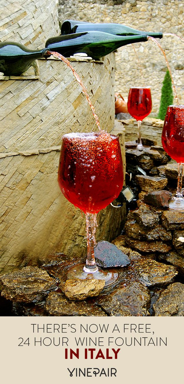 There S Now A Free 24 Hour Wine Fountain In Italy Tuscany Wine Tuscany Wine Tour Italian Wine