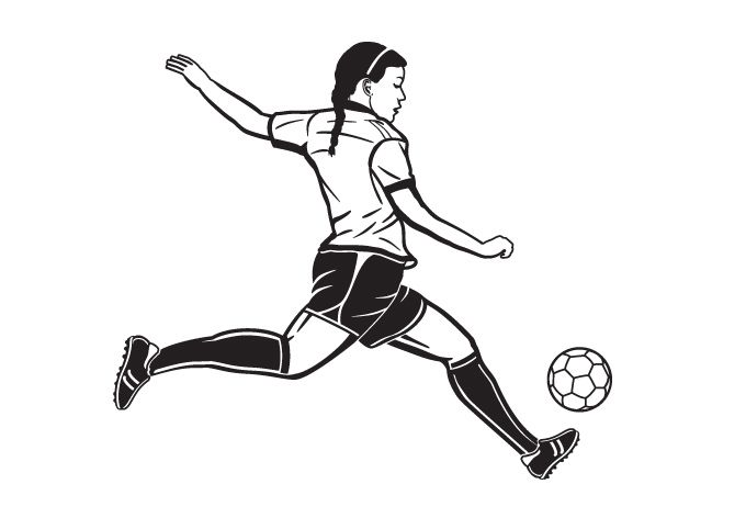 Line Drawing Of Soccer Player Google Search Soccer Players Soccer Line Drawing