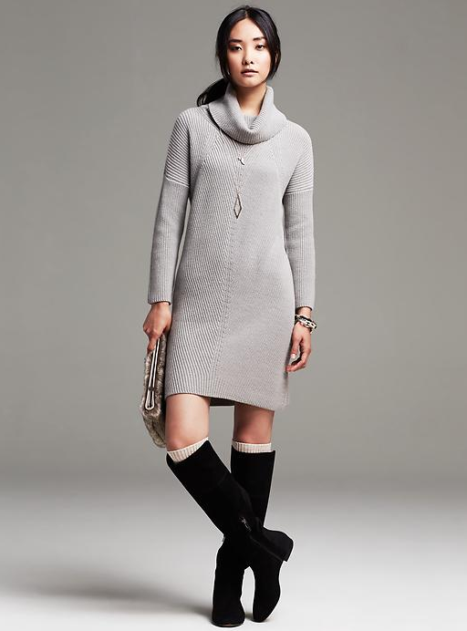 86424911509 Todays Coveted Working Look  Banana Republic Heritage Turtleneck Sweater  Dress