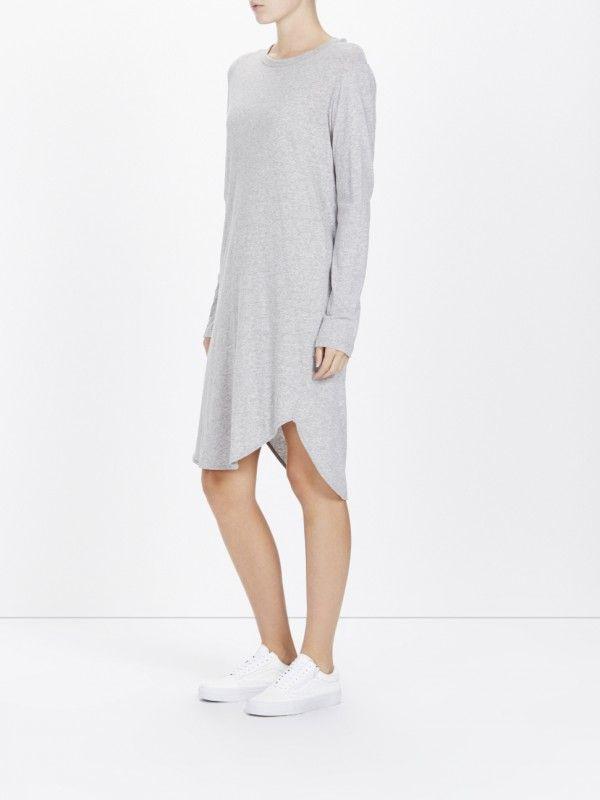 d7c2b4a88355 french seam long sleeve t.shirt dress w tail | fashion | T dress ...