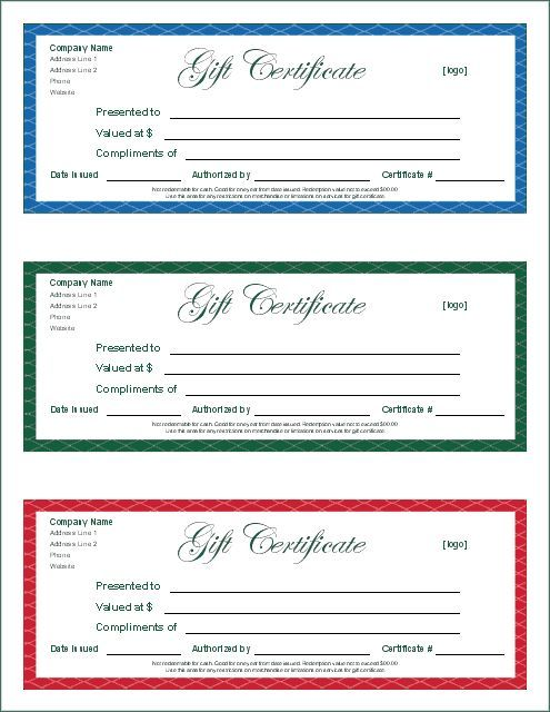 Printable Gift Certificates | This Is Another Printable Gift