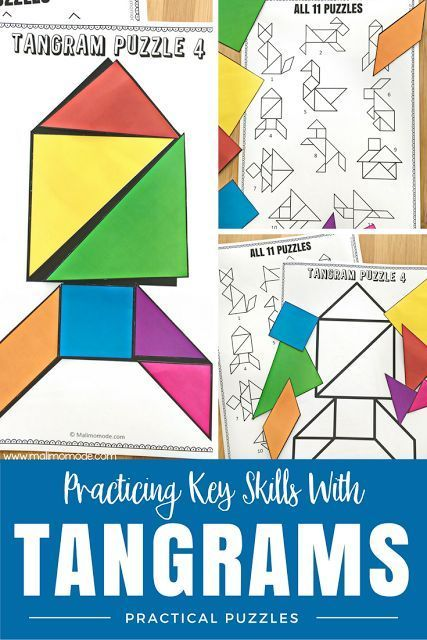 4 BIG Reasons Why You Should Be Using Tangram Puzzles | Math ideas ...
