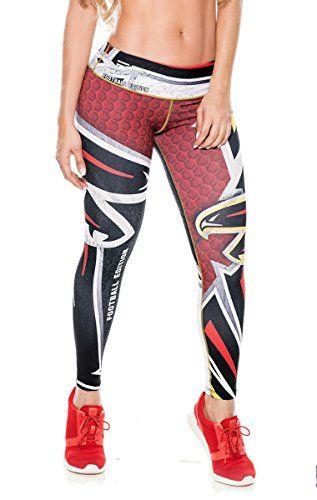 05fe1d8bdd37d Atlanta Falcons Football Leggings NFL Yoga Pants Women's ... | Let's ...
