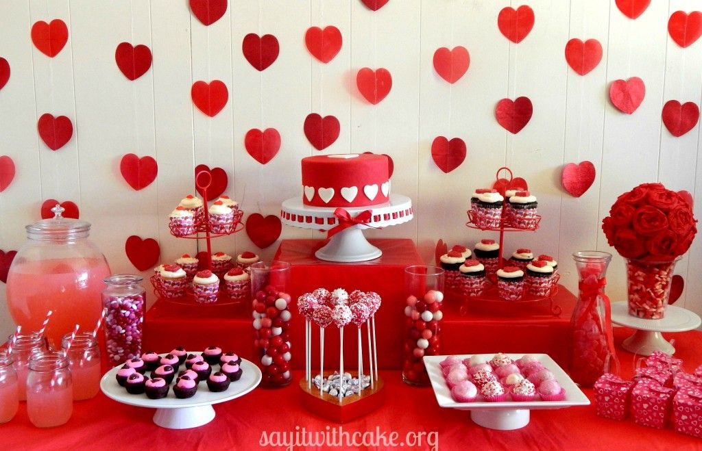 Valentine S Day Dessert Table Valentines Party Decor Valentines Dessert Table Valentines Birthday Party