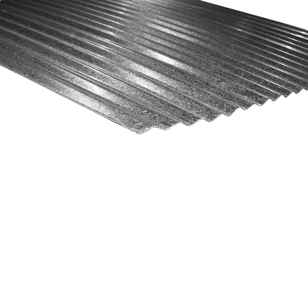 Metal Sales 12 Ft X 2 1 2 In Corrugated Steel Roof Panel In Galvalume Hd2141912 The Home Depot Steel Roof Panels Corrugated Steel Roofing Roof Panels