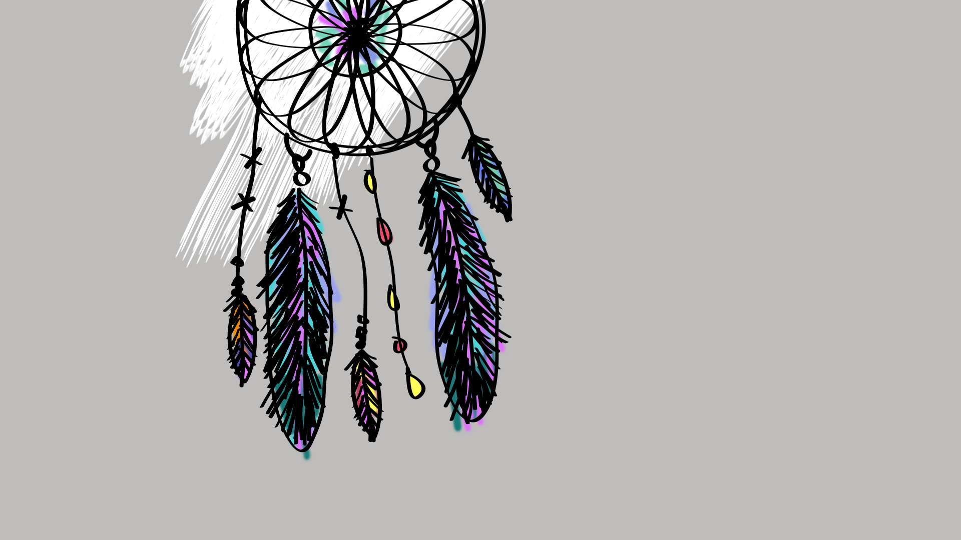 34c6cda88a383 dreamcatcher art wallpaper desktop background | ololoshenka ...