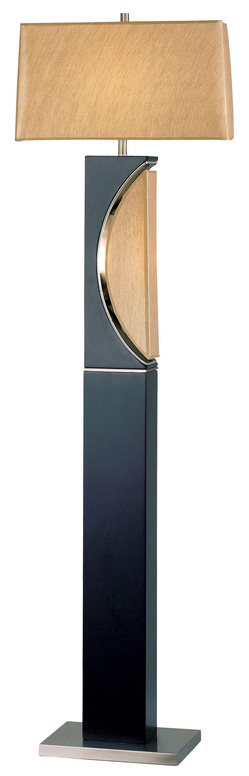 Nova Half Moon Wood Contemporary Floor Lamp Eurostylelighting