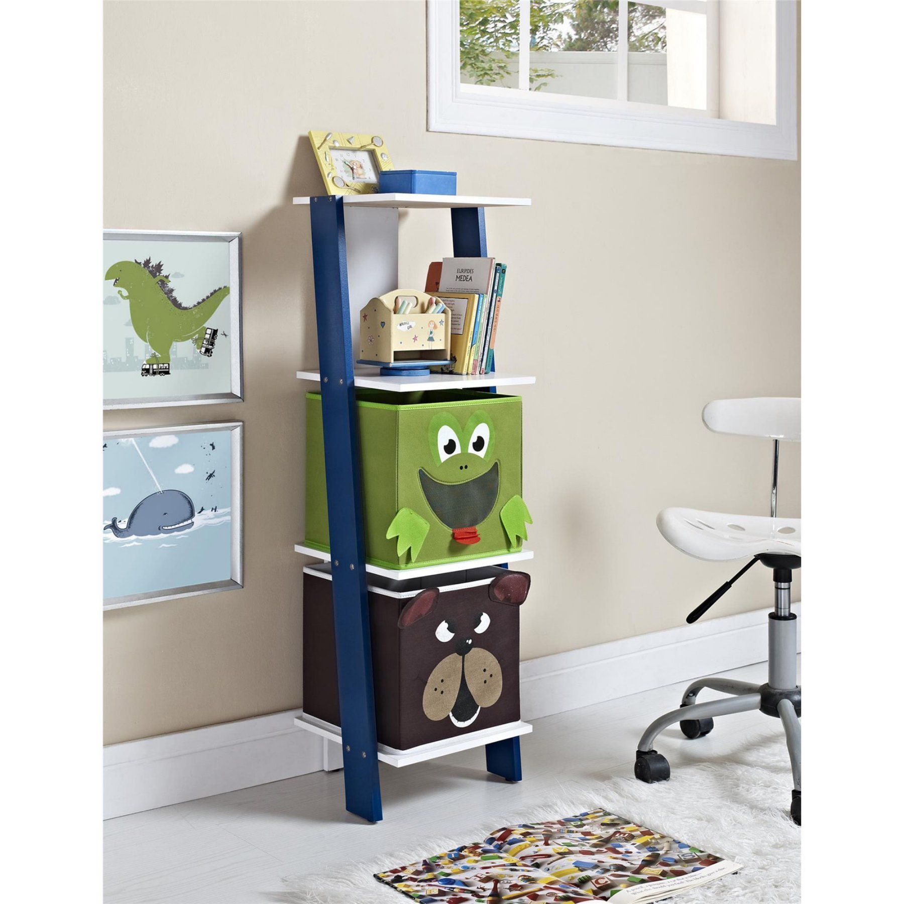 Altra Furniture Luci Ladder Toy Storage Bookcase  9624096